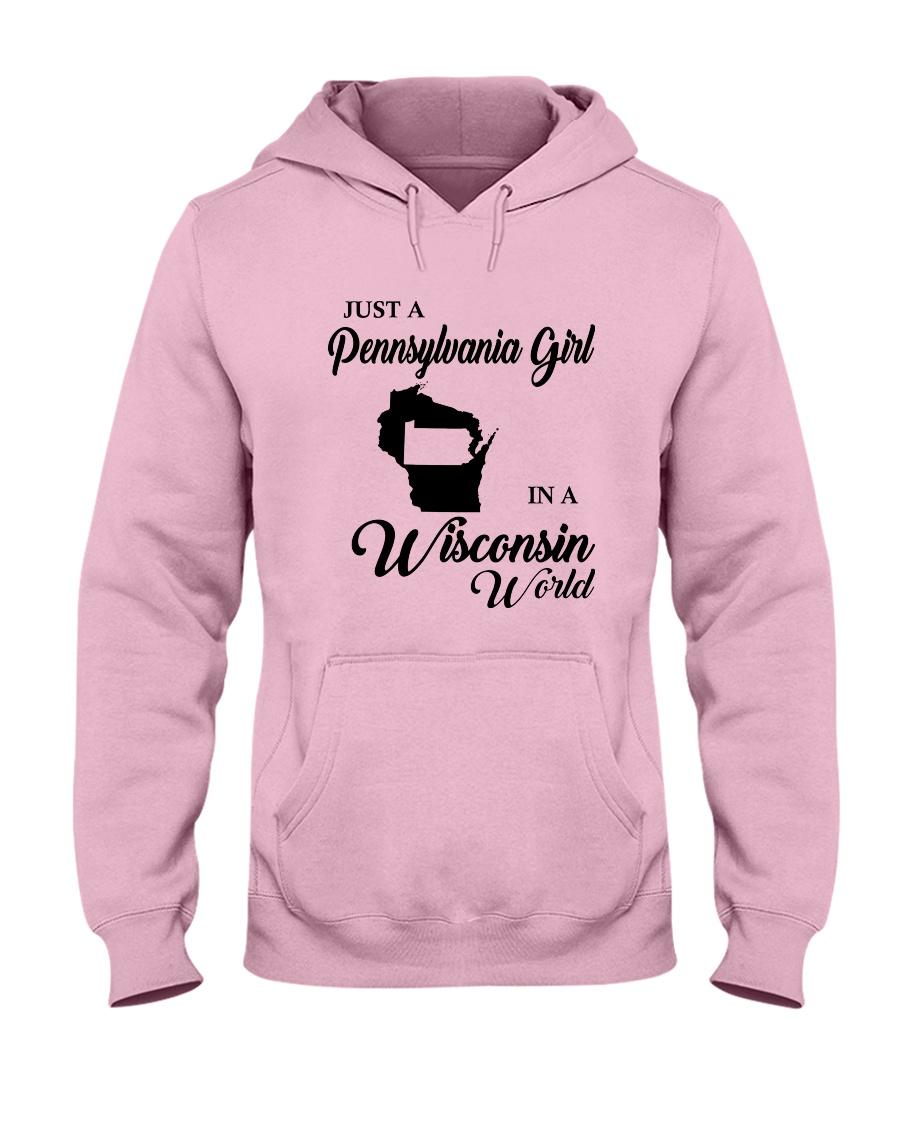 JUST A PENNSYLVANIA GIRL IN A WISCONSIN WORLD Hooded Sweatshirt