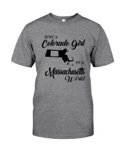 JUST A COLORADO GIRL IN A MASSACHUSETTS WORLD Classic T-Shirt thumbnail