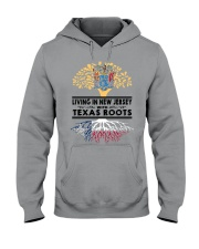 LIVING IN NEW JERSEY WITH TEXAS ROOTS Hooded Sweatshirt front