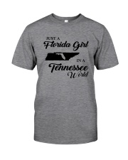 JUST A FLORIDA GIRL IN A TENNESSEE WORLD Classic T-Shirt thumbnail