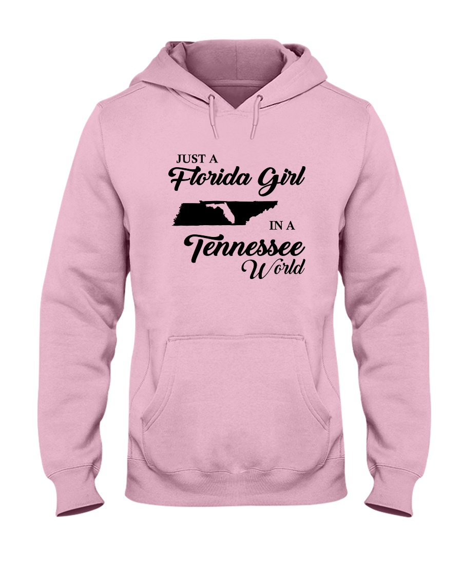 JUST A FLORIDA GIRL IN A TENNESSEE WORLD Hooded Sweatshirt