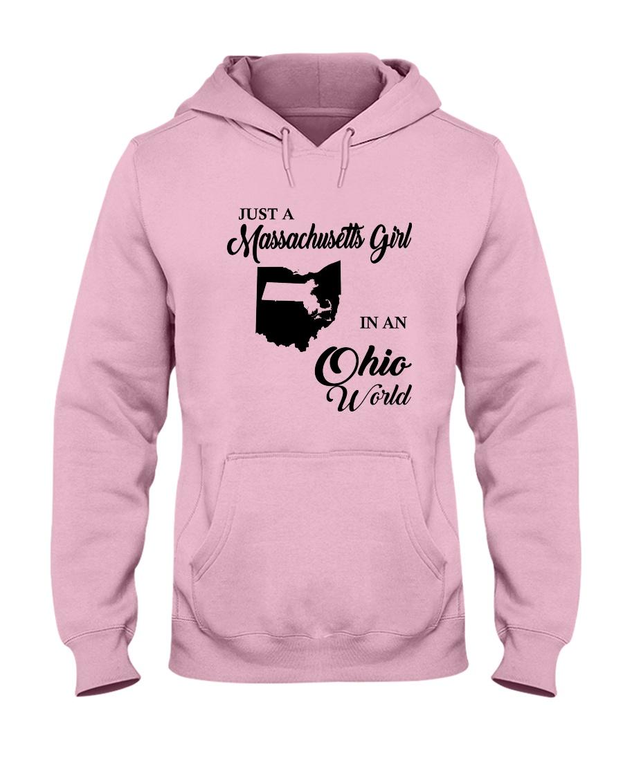JUST A MASSACHUSETTS GIRL IN AN OHIO WORLD Hooded Sweatshirt