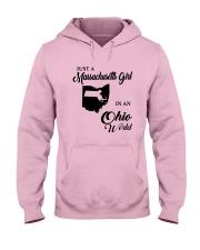 JUST A MASSACHUSETTS GIRL IN AN OHIO WORLD Hooded Sweatshirt front