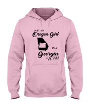 JUST AN OREGON GIRL IN A GEORGIA WORLD Hooded Sweatshirt front