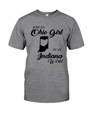 JUST An OHIO GIRL IN An INDIANA WORLD Classic T-Shirt thumbnail