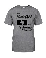 JUST A TEXAS GIRL IN A KANSAS WORLD Classic T-Shirt thumbnail