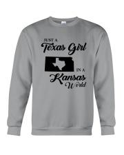 JUST A TEXAS GIRL IN A KANSAS WORLD Crewneck Sweatshirt thumbnail