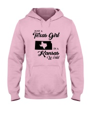 JUST A TEXAS GIRL IN A KANSAS WORLD Hooded Sweatshirt front