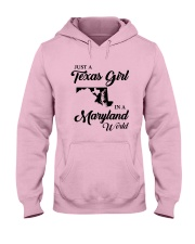 JUST A TEXAS GIRL IN A MARYLAND WORLD Hooded Sweatshirt front