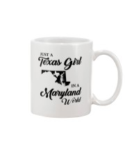 JUST A TEXAS GIRL IN A MARYLAND WORLD Mug tile