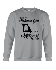 JUST AN ALABAMA GIRL IN A MISSOURI WORLD Crewneck Sweatshirt thumbnail