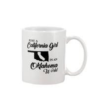 JUST A CALIFORNIA GIRL IN AN OKLAHOMA WORLD Mug thumbnail