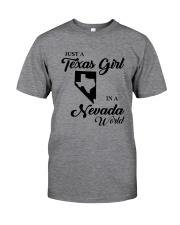 JUST A TEXAS GIRL IN A NEVADA WORLD Classic T-Shirt thumbnail