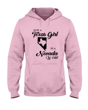 JUST A TEXAS GIRL IN A NEVADA WORLD Hooded Sweatshirt front