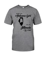 JUST AN ALABAMA GIRL IN AN ILLINOIS WORLD Classic T-Shirt thumbnail