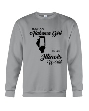 JUST AN ALABAMA GIRL IN AN ILLINOIS WORLD Crewneck Sweatshirt thumbnail