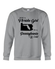 JUST A FLORIDA GIRL IN A PENNSYLVANIA WORLD Crewneck Sweatshirt thumbnail