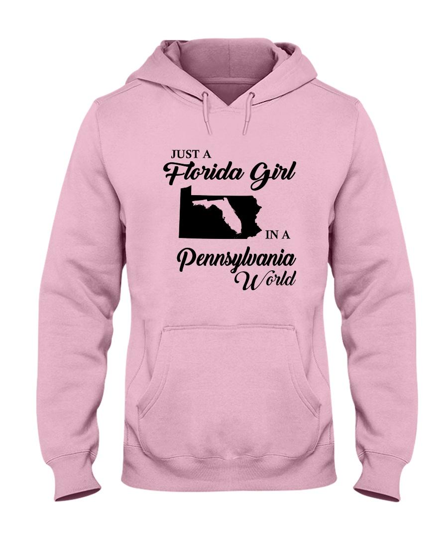 JUST A FLORIDA GIRL IN A PENNSYLVANIA WORLD Hooded Sweatshirt