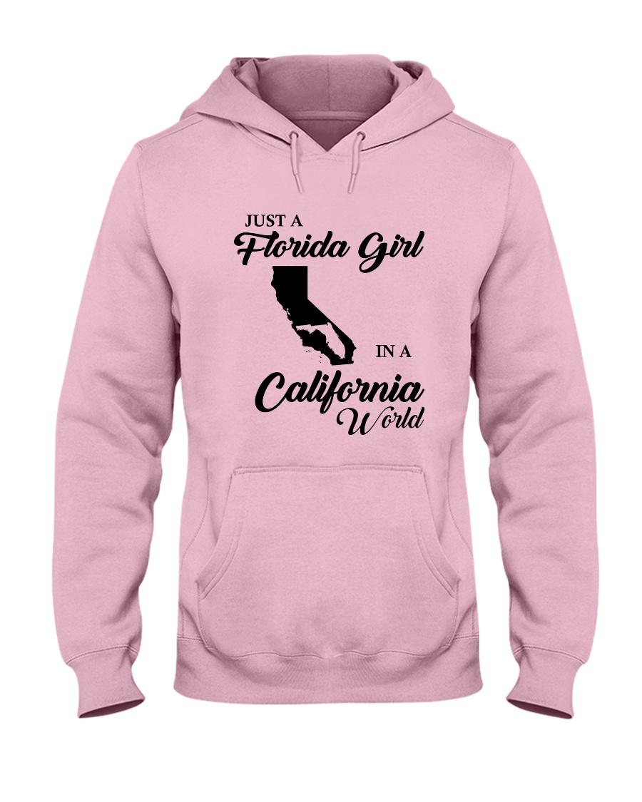 JUST A FLORIDA GIRL IN A CALIFORNIA WORLD Hooded Sweatshirt