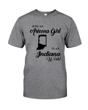 JUST AN ARIZONA GIRL IN AN INDIANA WORLD Classic T-Shirt thumbnail