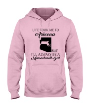 LIFE TOOK ME TO ARIZONA - MASSACHUSETTS Hooded Sweatshirt front