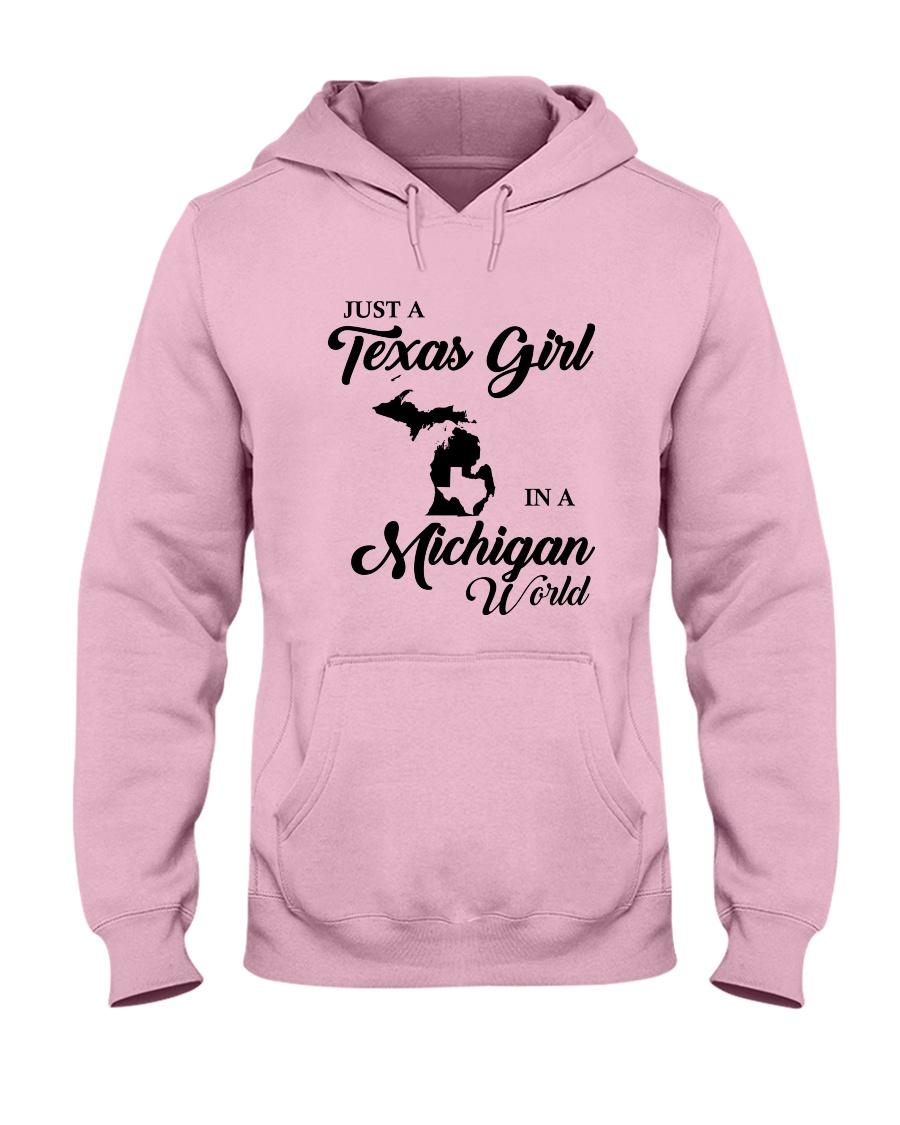 JUST A TEXAS GIRL IN A MICHIGAN WORLD Hooded Sweatshirt
