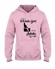 JUST A FLORIDA GIRL IN AN IDAHO WORLD Hooded Sweatshirt front