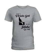 JUST A FLORIDA GIRL IN AN IDAHO WORLD Ladies T-Shirt thumbnail