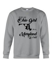 JUST An OHIO GIRL IN A MARYLAND WORLD Crewneck Sweatshirt thumbnail