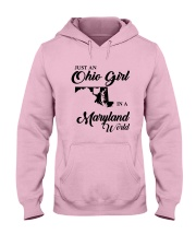 JUST An OHIO GIRL IN A MARYLAND WORLD Hooded Sweatshirt front