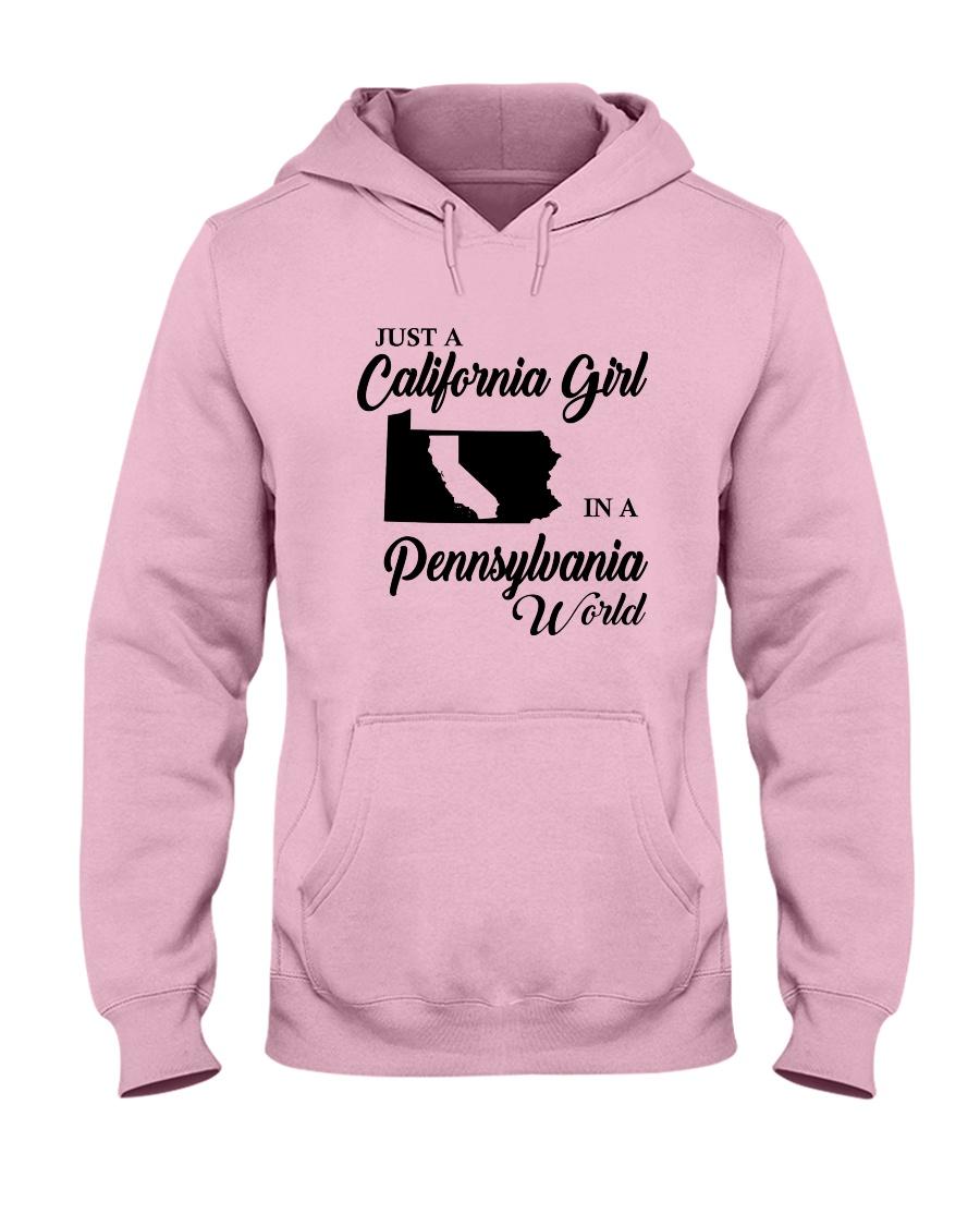 JUST A CALIFORNIA GIRL IN A PENNSYLVANIA WORLD Hooded Sweatshirt