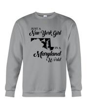 JUST A NEW YORK GIRL IN A MARYLAND WORLD Crewneck Sweatshirt thumbnail
