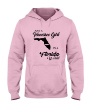 JUST A TENNESSEE GIRL IN A FLORIDA WORLD Hooded Sweatshirt front