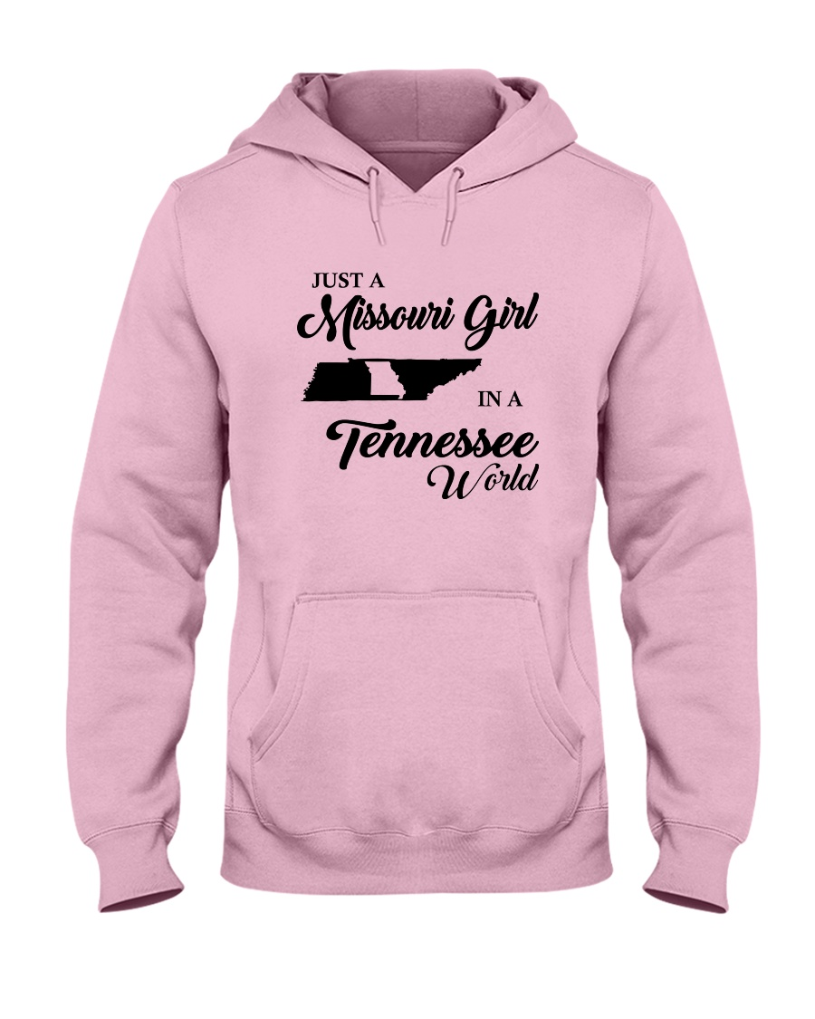 JUST A MISSOURI GIRL IN A TENNESSEE WORLD Hooded Sweatshirt
