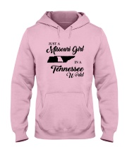 JUST A MISSOURI GIRL IN A TENNESSEE WORLD Hooded Sweatshirt front