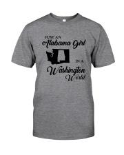JUST AN ALABAMA GIRL IN A WASHINGTON WORLD Classic T-Shirt thumbnail