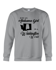 JUST AN ALABAMA GIRL IN A WASHINGTON WORLD Crewneck Sweatshirt thumbnail