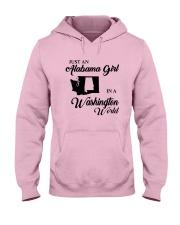 JUST AN ALABAMA GIRL IN A WASHINGTON WORLD Hooded Sweatshirt front