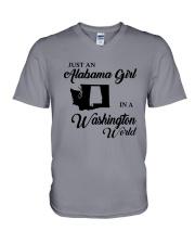 JUST AN ALABAMA GIRL IN A WASHINGTON WORLD V-Neck T-Shirt thumbnail