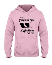 JUST A CALIFORNIA GIRL IN A MONTANA WORLD Hooded Sweatshirt front