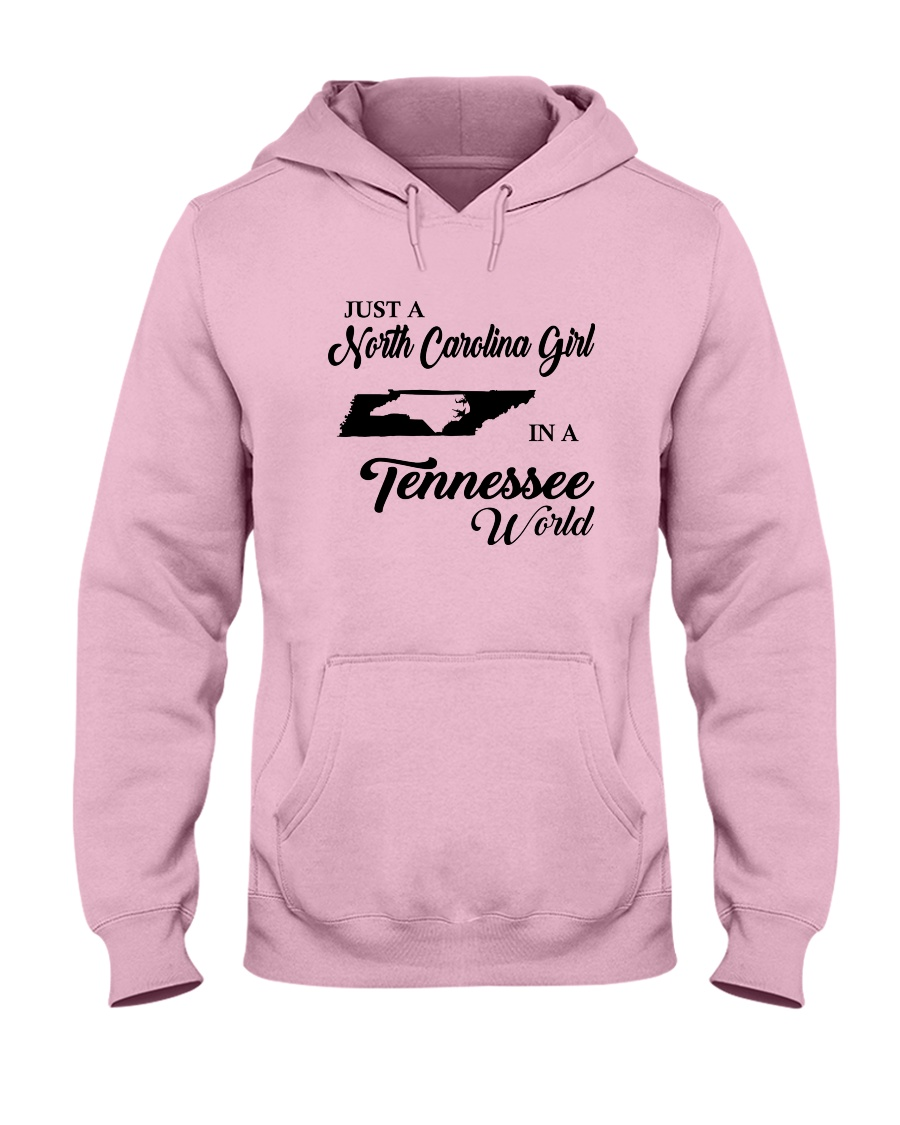 JUST A NORTH CAROLINA GIRL IN A TENNESSEE WORLD Hooded Sweatshirt