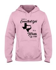 JUST A CONNECTICUT GIRL IN A TEXAS WORLD Hooded Sweatshirt front