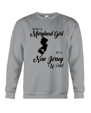 JUST A MARYLAND GIRL IN A NEW JERSEY WORLD Crewneck Sweatshirt thumbnail
