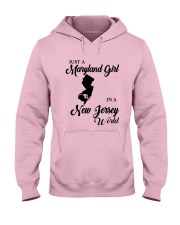 JUST A MARYLAND GIRL IN A NEW JERSEY WORLD Hooded Sweatshirt tile