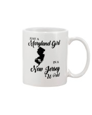 JUST A MARYLAND GIRL IN A NEW JERSEY WORLD Mug tile