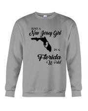 JUST A NEW JERSEY GIRL IN A FLORIDA WORLD Crewneck Sweatshirt thumbnail