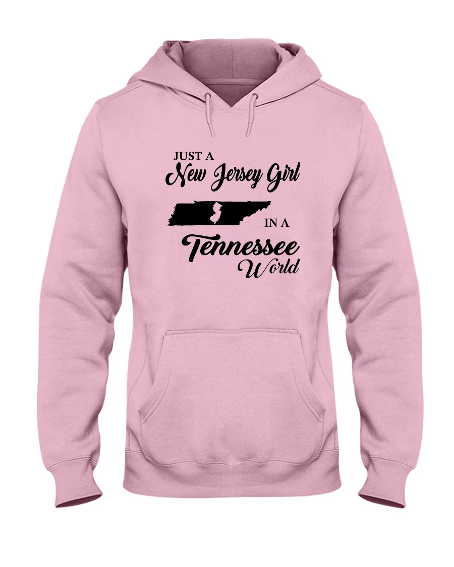 JUST A NEW JERSEY GIRL IN A TENNESSEE WORLD Hooded Sweatshirt