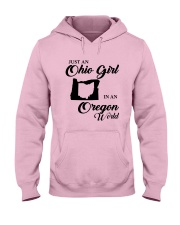 JUST An OHIO GIRL IN An OREGON WORLD Hooded Sweatshirt front
