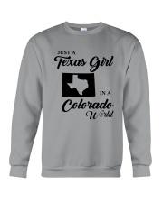 JUST A TEXAS GIRL IN A COLORADO WORLD Crewneck Sweatshirt thumbnail