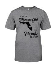 JUST A FLORIDA GIRL IN AN OKLAHOMA WORLD Classic T-Shirt thumbnail